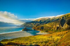 Big Sur sunset Royalty Free Stock Photos