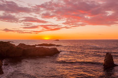 Big Sur Sunset Landscape Stock Photography