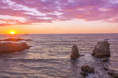Big Sur Sunset Royalty Free Stock Image