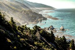 Big Sur van Weg 1, Californië stock fotografie