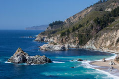 Big Sur View Along The Pacific Coastline Stock Photography
