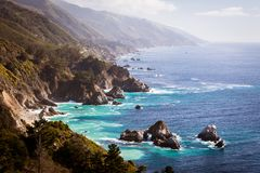 Big Sur View Along The Pacific Coastline Royalty Free Stock Image