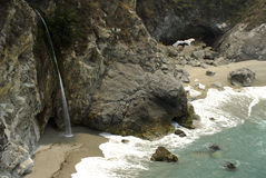 Big Sur Waterfall Royalty Free Stock Photos