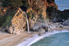 Big Sur Waterfall royalty free stock images