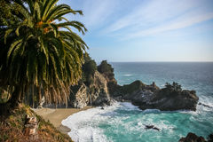 Big Sur Waterfall Cove Royalty Free Stock Photography