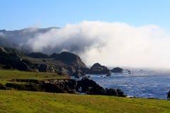 Big Sur3. Big Sur, California with fog rolling in Stock Photos