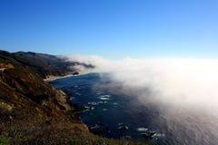 Big Sur4. Big Sur, California with fog rolling in Stock Photos