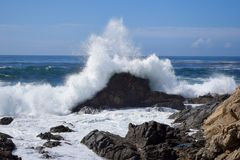 Big- Surbucht, Meerblick, Kalifornien, USA Lizenzfreies Stockbild