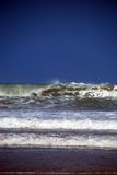 Big surf. Big ocean wave breaking.  Big surf  due to Hurricane Gustav.  South Padre Island, Texas Stock Image