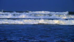 Big surf. Big ocean surf due to Hurricane Gustav.  South Padre Island, Texas Royalty Free Stock Photo