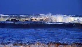 Big surf. Big ocean waves breaking. Big surf due to Hurricane Gustav. South Padre Island, Texas royalty free stock photography