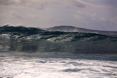 Big surf on hawaii's shore Stock Image