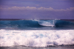 Big surf on hawaii's shore Royalty Free Stock Photography