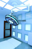 Big surgical lamp in operation theater Royalty Free Stock Photo