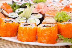 Big sushi set Stock Photos