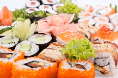 Big sushi set royalty free stock photos