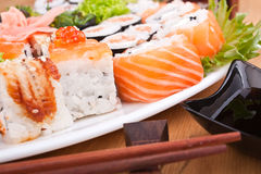 Big sushi set close-up Royalty Free Stock Photos