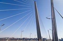 Big suspension bridge Royalty Free Stock Image