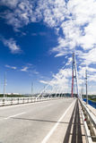 Big suspension bridge Royalty Free Stock Images