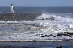 Big swell 3. Exceptionnal big swell flooding reunion island's coasts Royalty Free Stock Images