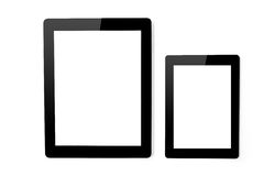 Big tablet and mini ipad tablet Stock Image