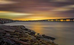 Big Talbot Island. Florida. Nassau County. Sunrise on the salt marshes royalty free stock photos