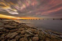 Big Talbot Island. Florida. Nassau County. Sunrise on the salt marshes stock photo