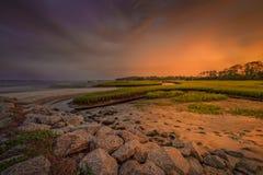 Big Talbot Island. Florida. Nassau County. Sunrise on the salt marshes stock images