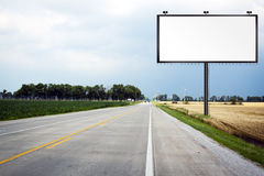 Big Tall Billboard on road Stock Photos