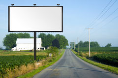 Big Tall Billboard on road Stock Photo