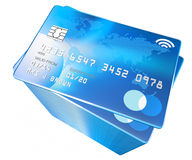 Big tall pile of credit cards (original blue design) Stock Photography