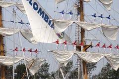 Big tallship on nautical event Sail 2015 Stock Images