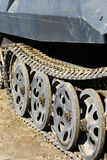 Big Tank. A large, heavy military tank on Special Duty Royalty Free Stock Photo