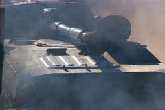 Big tank on the exhibition Stock Photo