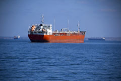 Big tanker on the high seas Stock Photos