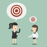 Big Target. Business Concept Cartoon Illustration Royalty Free Stock Photography
