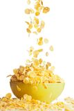 Big tasty breakfast with corn flakes Stock Image