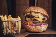 Big tasty burger Royalty Free Stock Photo