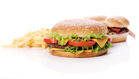 Big and tasty burgers Royalty Free Stock Photography