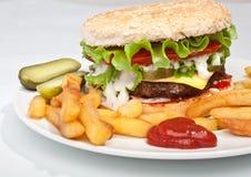 Big tasty cheeseburger Stock Photography