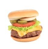 Big tasty hamburger. Stock Photos