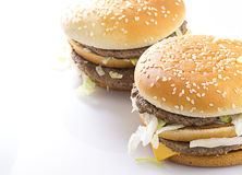 Big Tasty Hamburger Royalty Free Stock Photos