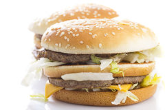 Big Tasty Hamburger Stock Images