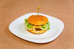 Big and tasty hamburger Royalty Free Stock Photos