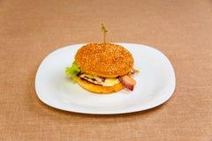 Big and tasty hamburger Stock Image