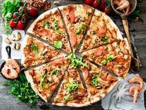 Big tasty pizza Stock Image