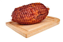 Big tasty smoked ham. Royalty Free Stock Photos