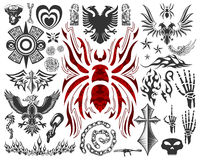 Big Tatto Collection - Elements - Symbols - Vector Stock Images