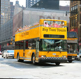 Big Taxi Tours Stock Photo
