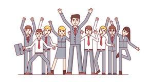Big team celebrating huge business success Royalty Free Stock Image